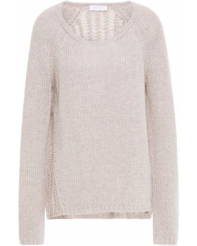 Открытый серый шерстяной свитер Duffy