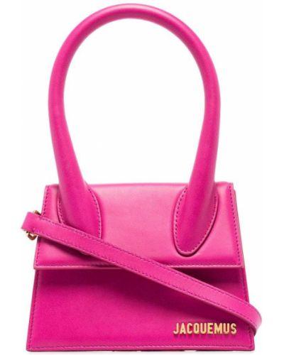 Розовая хлопковая сумка Jacquemus