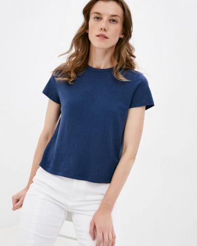 Синяя с рукавами футболка Gap