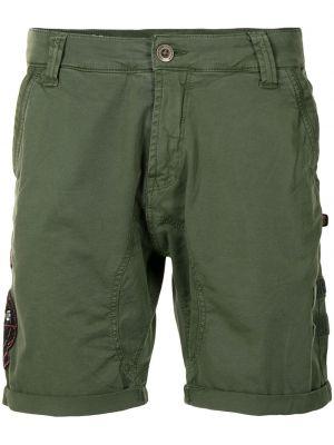 Зеленые шорты на молнии Alpha Industries
