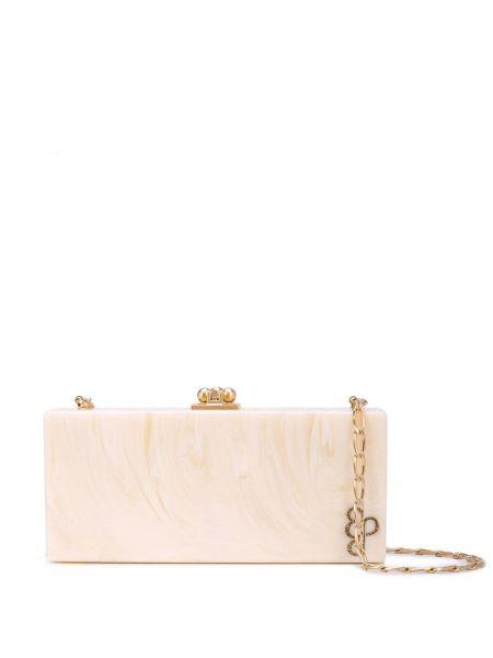 Акриловая белая сумка среднего размера прямоугольная Edie Parker
