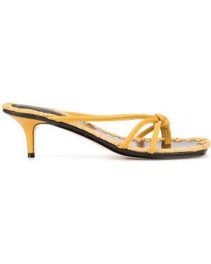 Желтые мюли на каблуке Mara & Mine