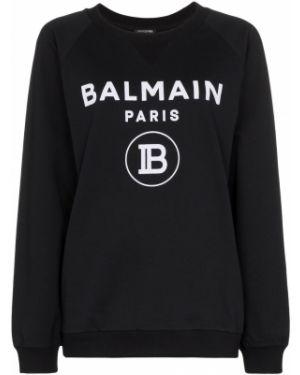 Топ черный свободный Balmain