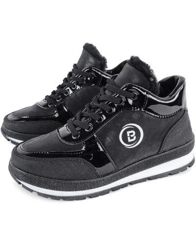 Кожаные кроссовки - черные Bromen