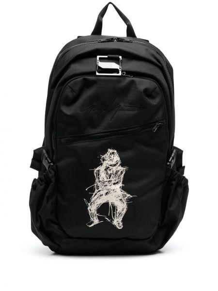 Czarny plecak z printem Yohji Yamamoto