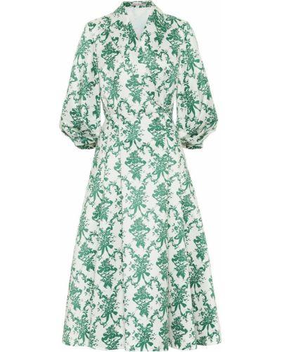 Зеленое платье макси Emilia Wickstead