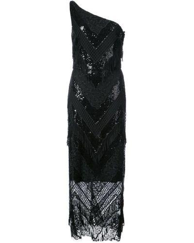 Платье с пайетками - черное Christian Siriano