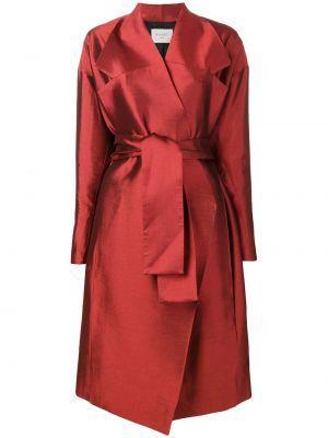 Шерстяное пальто с поясом Poiret