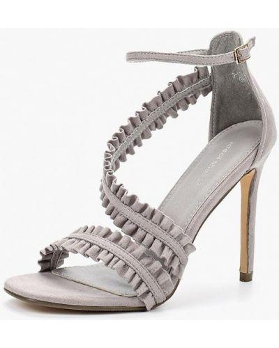 Серые босоножки на каблуке Ideal Shoes®