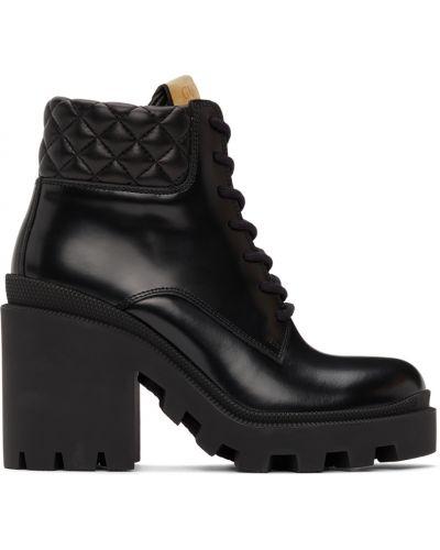 Ботильоны на каблуке - черные Gucci