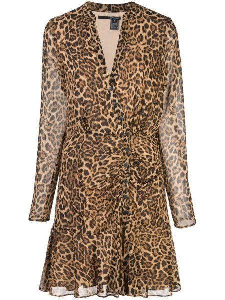 Платье мини макси леопардовое Jay Godfrey