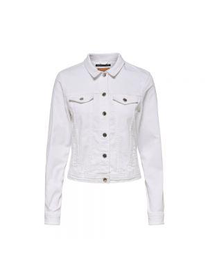 Kurtka jeansowa - biała Only