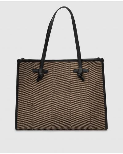 Кожаная сумка шоппер - бежевая Gianni Chiarini