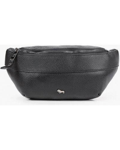 Черная поясная сумка из натуральной кожи Labbra