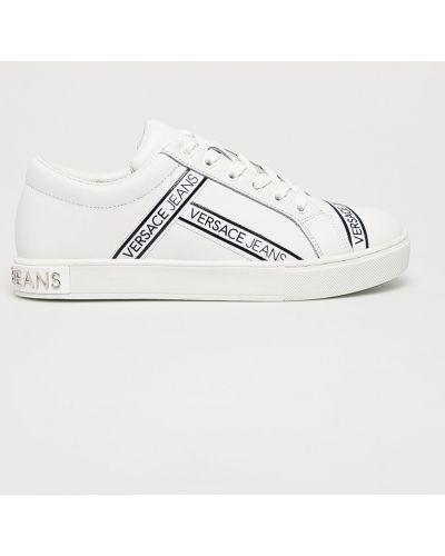 Белые джинсы на шнуровке Versace Jeans
