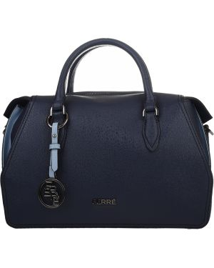 Кожаная сумка - синяя Ferre Collezioni