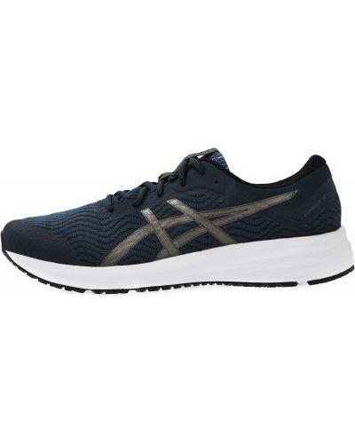 Синие кроссовки для бега на шнуровке сетчатые Asics