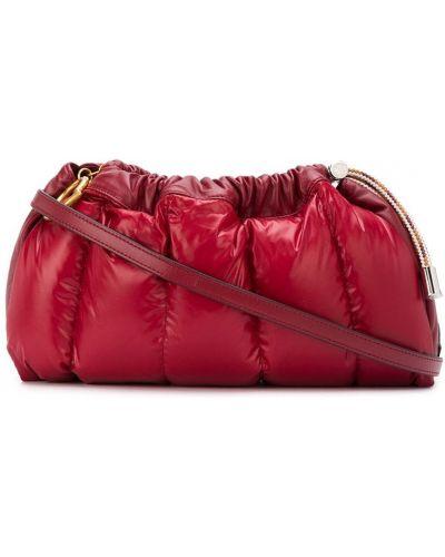 С кулиской с ремешком красный сумка на плечо Moncler