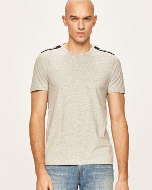 Szary t-shirt bawełniany Moschino Underwear