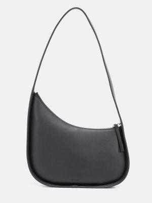 Черная кожаная сумка из натуральной кожи The Row