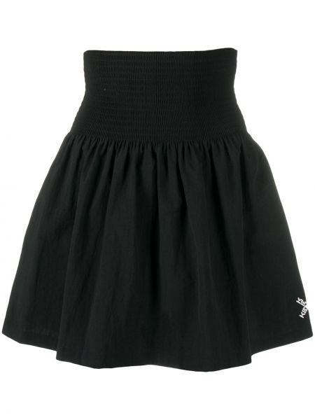 С завышенной талией расклешенная черная юбка Kenzo