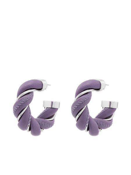 Фиолетовые серьги-гвоздики Bottega Veneta