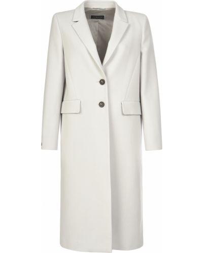 Белое пальто с капюшоном Peruffo