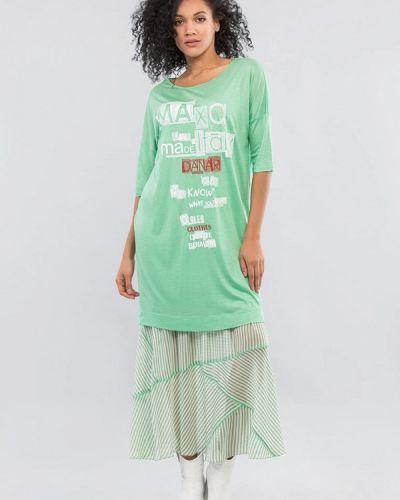 Повседневное бирюзовое повседневное платье Maxa