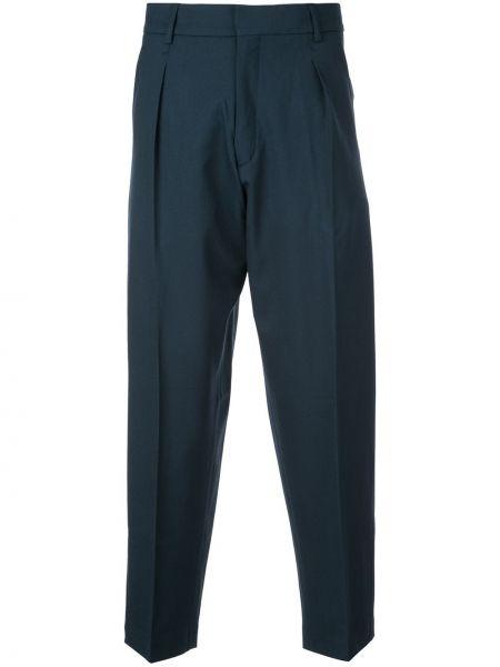 Свободные деловые прямые брюки с поясом новогодние Second/layer