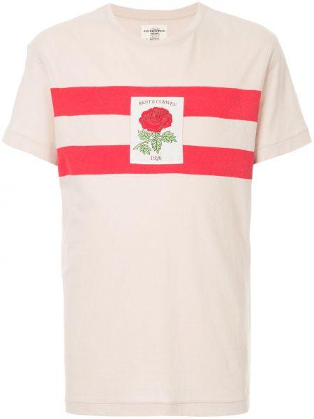 Белая хлопковая футболка Kent & Curwen