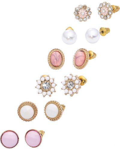 Серьги-гвоздики золотой розовый Bonprix