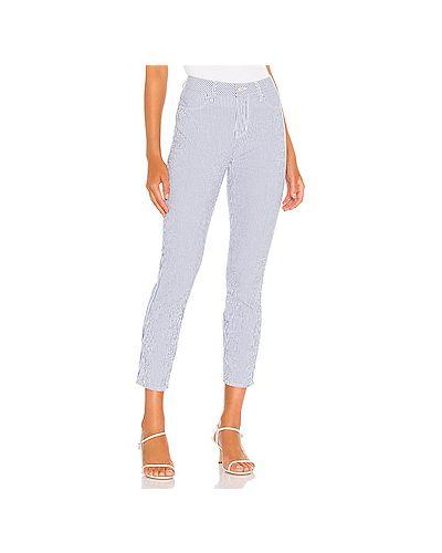Хлопковые синие джинсы-скинни с карманами на молнии L'agence
