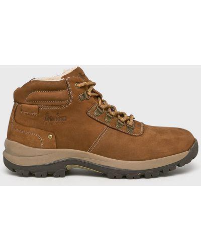 Кожаные ботинки - коричневые American Club