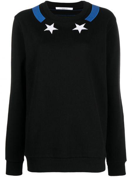 Z rękawami czarny bluza z haftem Givenchy