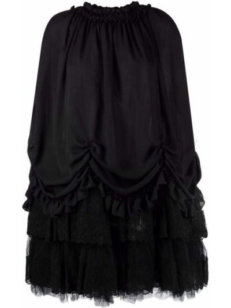 Bluzka koronkowa tiulowa - czarna Simone Rocha