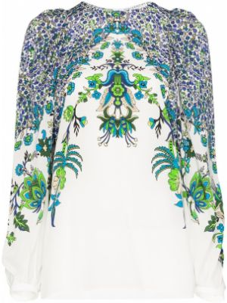 Bluzka w kwiatowe wzory biała Givenchy