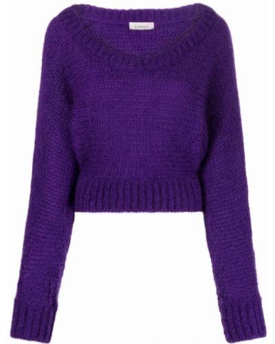 Джемпер из мохера - фиолетовый Laneus