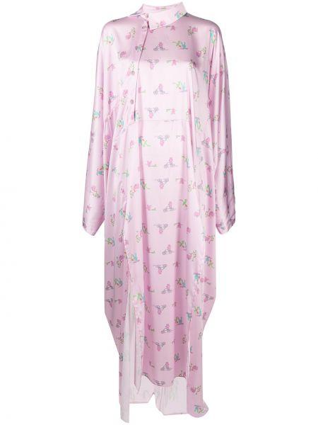 Платье макси оверсайз - розовое Natasha Zinko