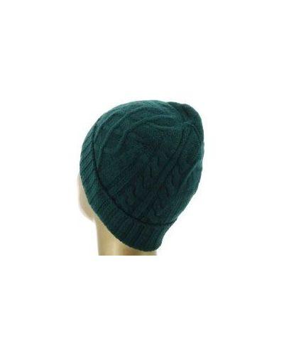 Зеленая шапка кашемировая Fedeli