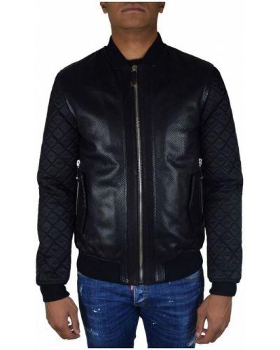 Czarna kurtka pikowana Philipp Plein
