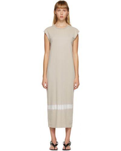 Желтое платье сетчатое с воротником без рукавов Raquel Allegra