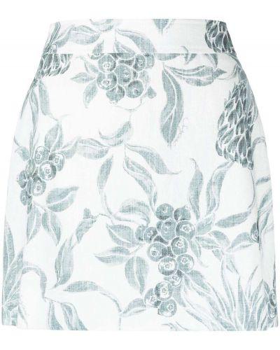 С завышенной талией прямое белое платье мини See By Chloé