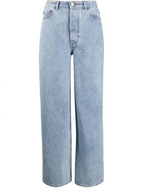 Прямые джинсы с низкой посадкой оверсайз Ganni