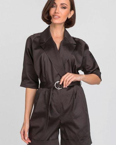 Комбинезон с шортами - серый Gloss