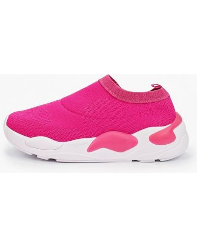 Текстильные розовые кроссовки Moleca
