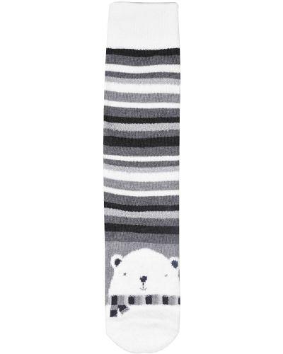 Prążkowane skarpety bawełniane z printem Totes