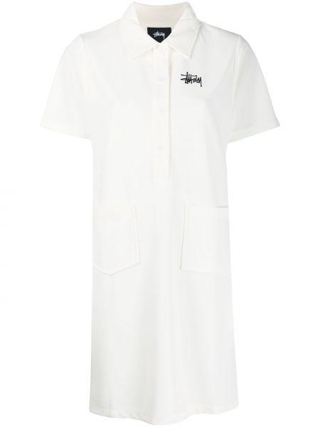 Платье мини короткое - белое Stussy