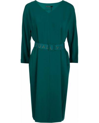 Платье с поясом с V-образным вырезом из вискозы Vuall