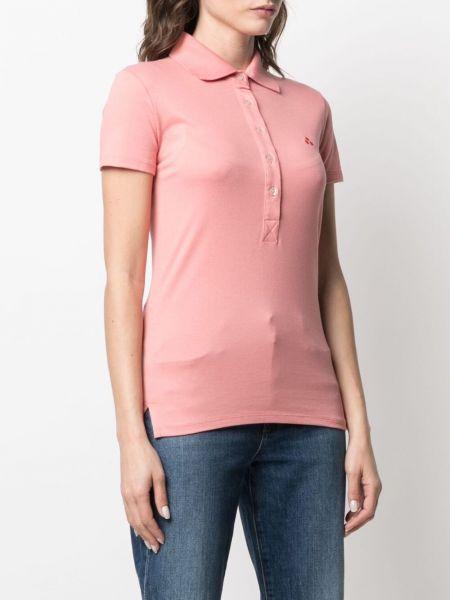 Розовая рубашка с короткими рукавами с воротником Peuterey