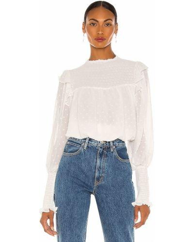 Шифоновая белая блузка с манжетами Bardot